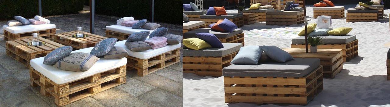 Decoambient Alquiler De Mobiliario Chill Out Lounge Mobiliario - Mobiliario-con-palets