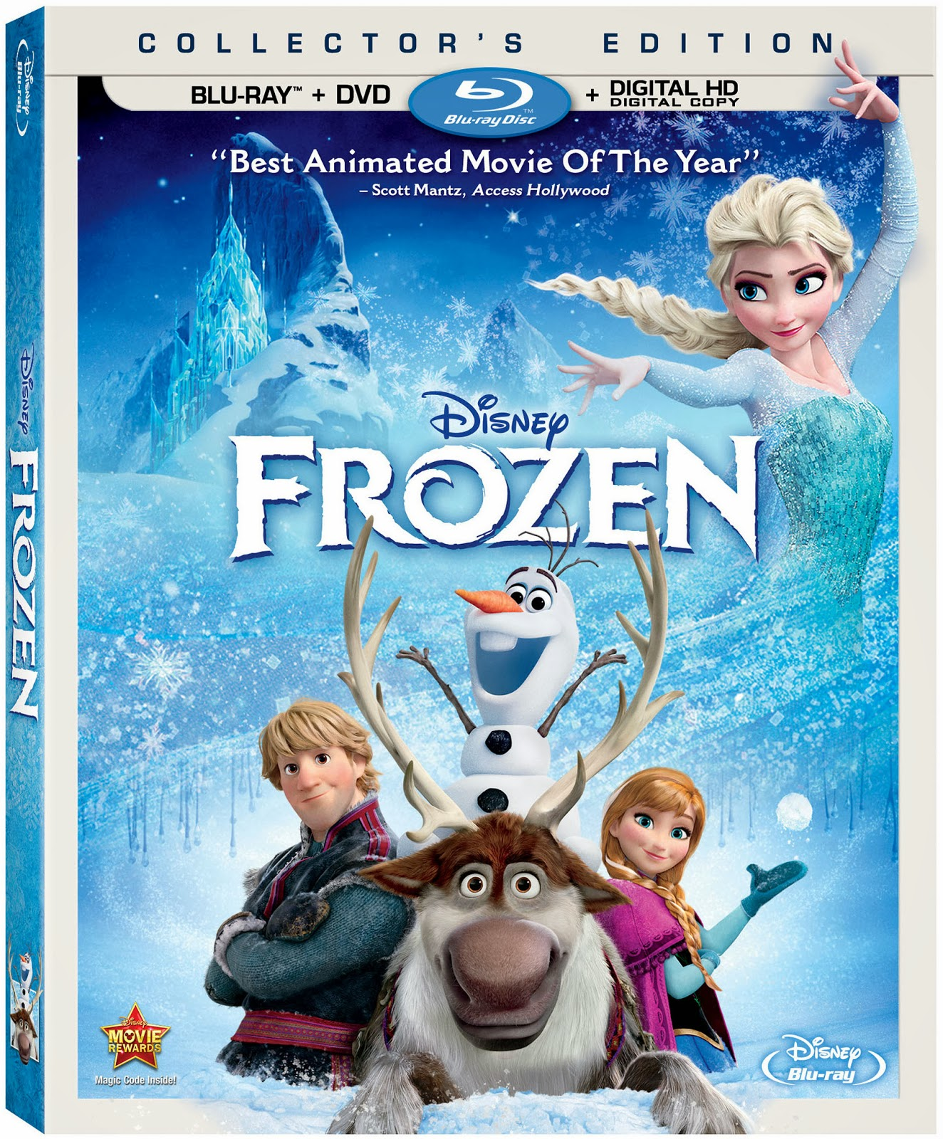 Disney's Frozen Available on Digital HD February 25th and Blu-ray Combo Pack, DVD & On-Demand March 18th