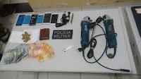 Acusados de assalto em Picuí são presos com objetos roubados