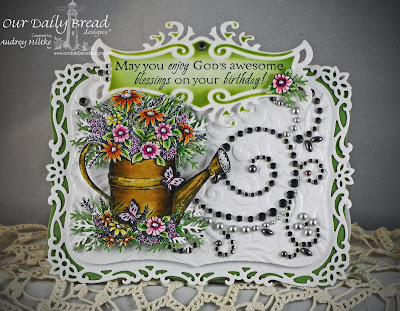 All Occasion Sentiments, Watering Can Stamp and Die