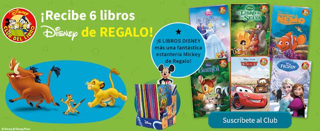 6 libros Disney y una estantería de Mickey de regalo