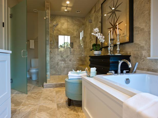 Bathroom Sets Luxury Reconditioned Bath Tub In Master Bedroom: Modern Furniture: Master Bathroom Pictures : HGTV Dream