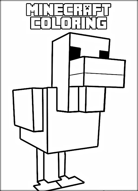 Minecraft Animal Coloring Pages