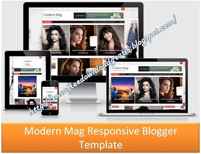 Moderen Mag Responsive Blogger Template