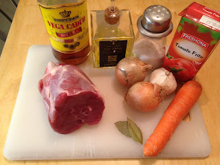Ternera guisada, ingredientes