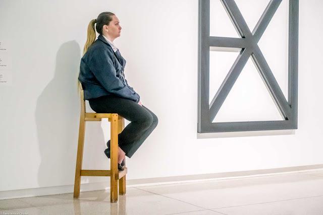 Segurança no Museu Oscar Niemeyer.
