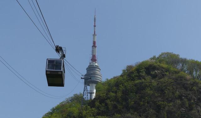 Seoul - Seilbahn zum N Seoul Tower
