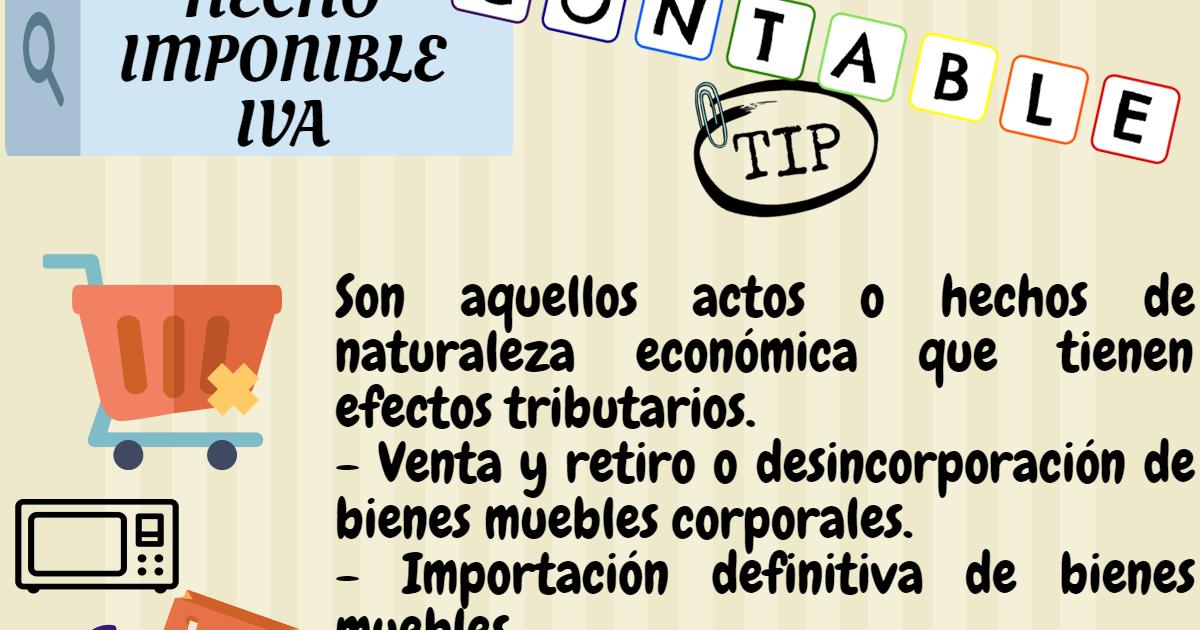 Contable tip hecho imponible impuesto al valor agregado iva for Registro de bienes muebles de madrid