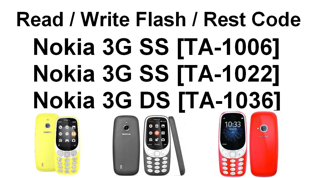 How To Read Write Rest Nokia 3G SS/DS TA-1006 TA-1022 TA