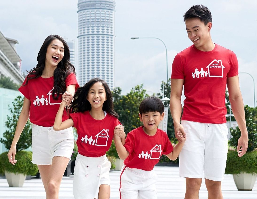 Bossini celebrates Singapore's 53rd birthday and everyday Singaporeans with its collection comprising of our national colours of red and white for the entire family.