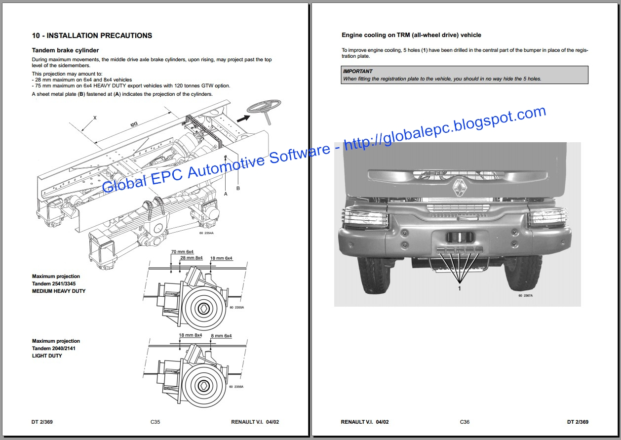 automotive wiring diagrams manual kenworth t800 battery diagram global epc software renault kerax workshop