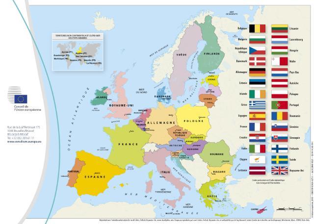 Les 28 pays de lEurope Union européenne Europe Tête à modeler