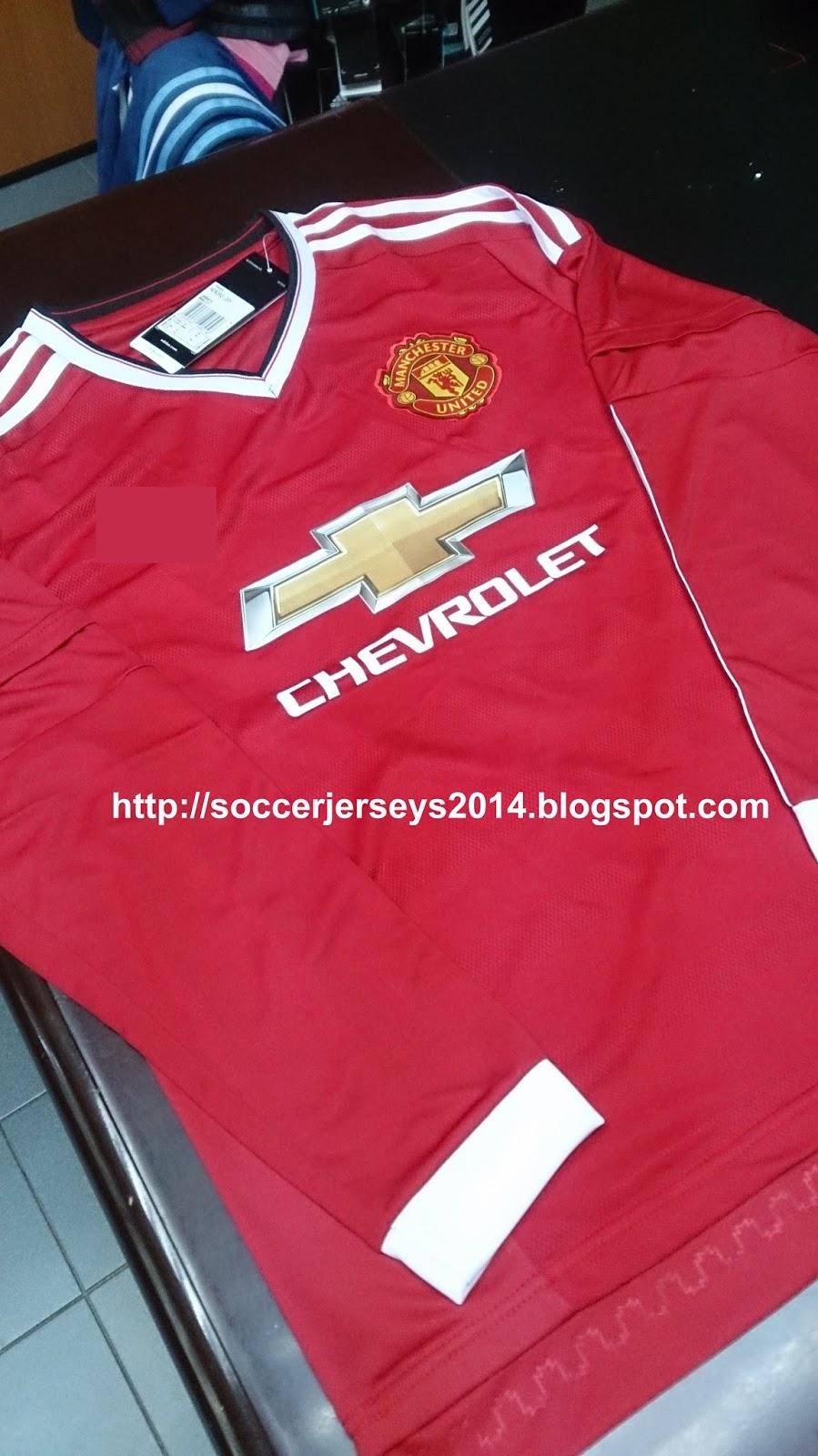 brand new cf457 e3df4 Soccer Jerseys 2014: Manchester United Home Long Sleeve 2015 ...