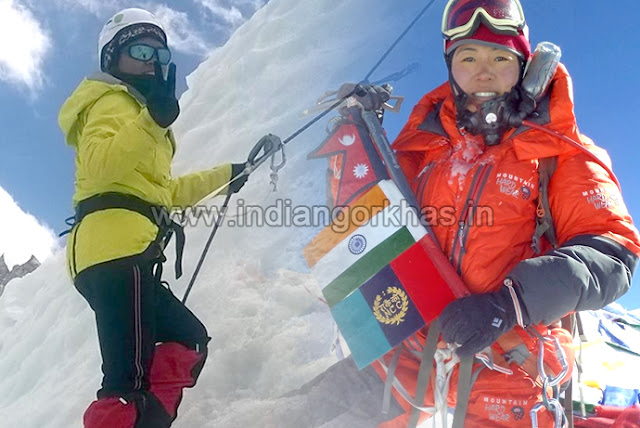 Everest climbers Trishala Gurung and Suloxchana Tamang from Darjeeling