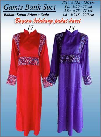 Gamis Batik Kombinasi Terbaru