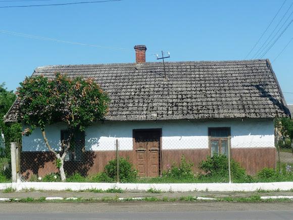 Слободка Стрыйского района. Старый дом возле трассы