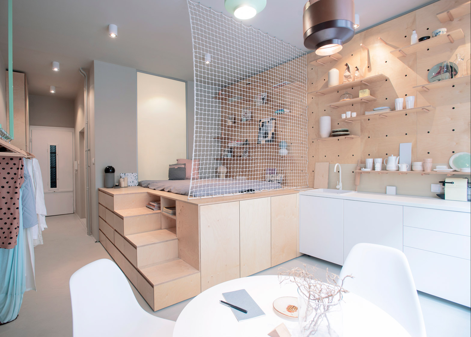 Compact living airbnb nordic days by flor linckens - Living in small spaces home minimalist ...