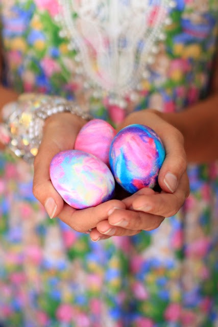 Galaxy Easter Eggs - Photo by Mademoiselle Mermaid