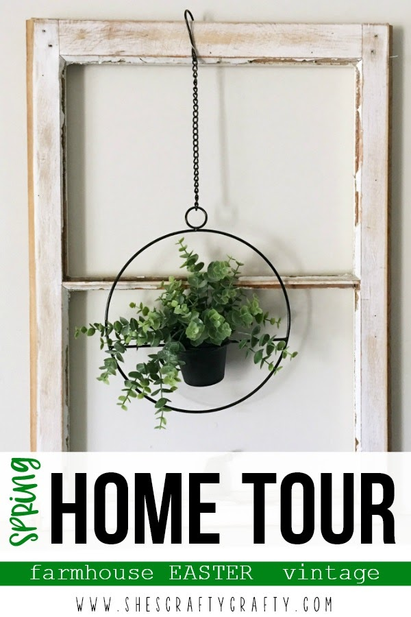 Spring Home Tour - farmhouse, Easter and vintage style
