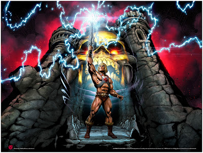 "He-Man and the Masters of the Universe ""The Power Of Grayskull"" Print by Axel Giménez x Mad Duck Posters"