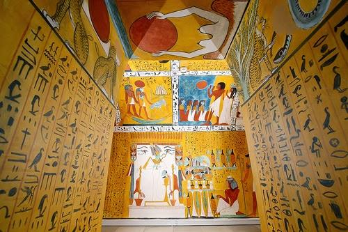 Museum für Kommunikation Nürnberg: Die Grabkammer des Sennedjem.