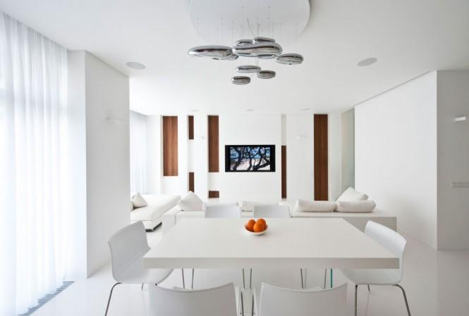Hogares Frescos: Apartamento de Interior Elegante Inundado Con Nogal ...