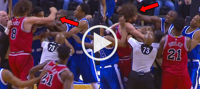 Serge Ibaka, Robin Lopez EJECTED After Trading Punches (VIDEO)