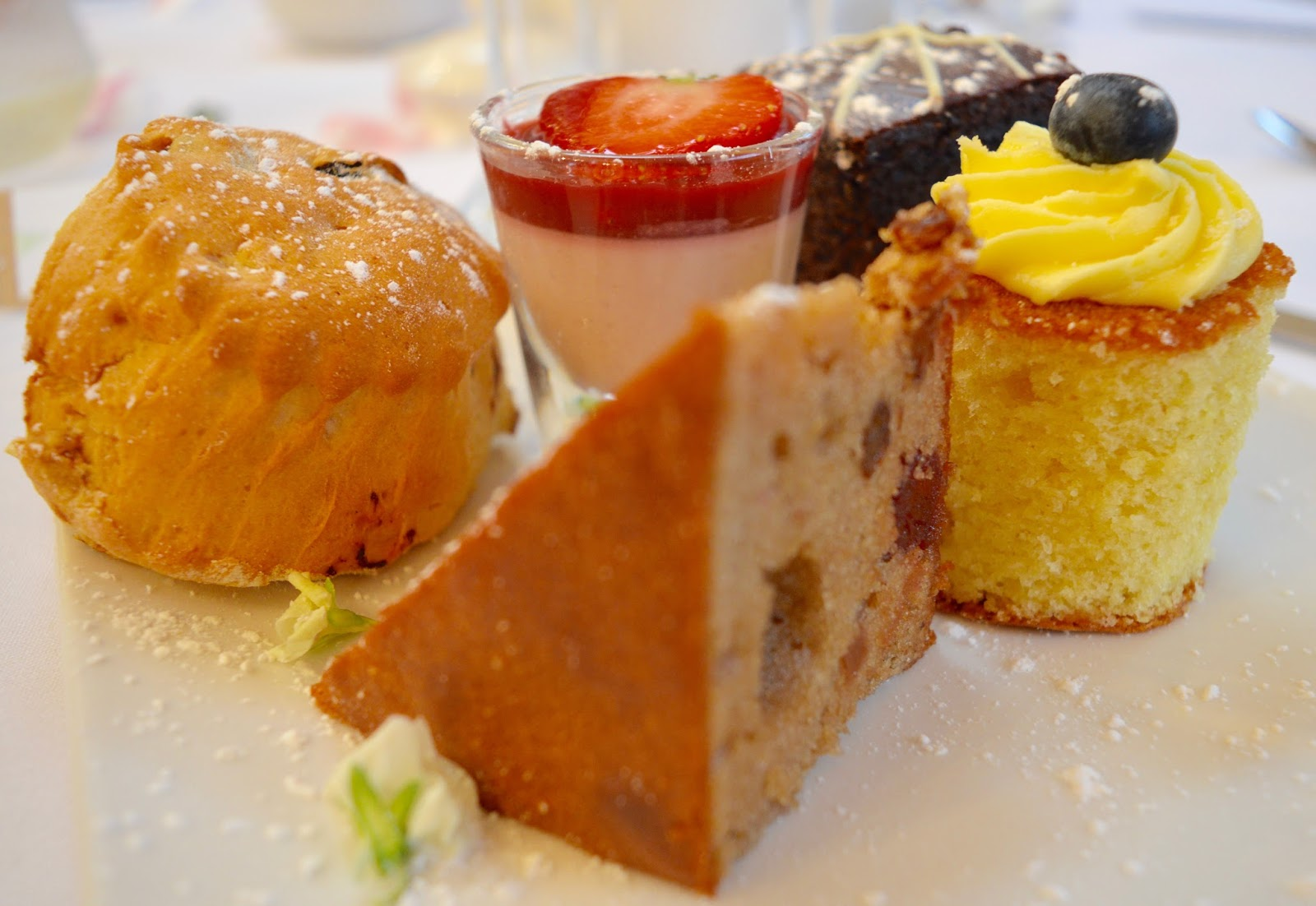 Weddings at The Parlour at Blagdon in Northumberland - Afternoon Tea Wedding Breakfast Cakes and Scone