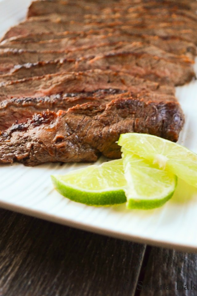 Marinated Carne Asada recipe with lime is a must for Cinco De Mayo from Serena Bakes Simply From Scratch.
