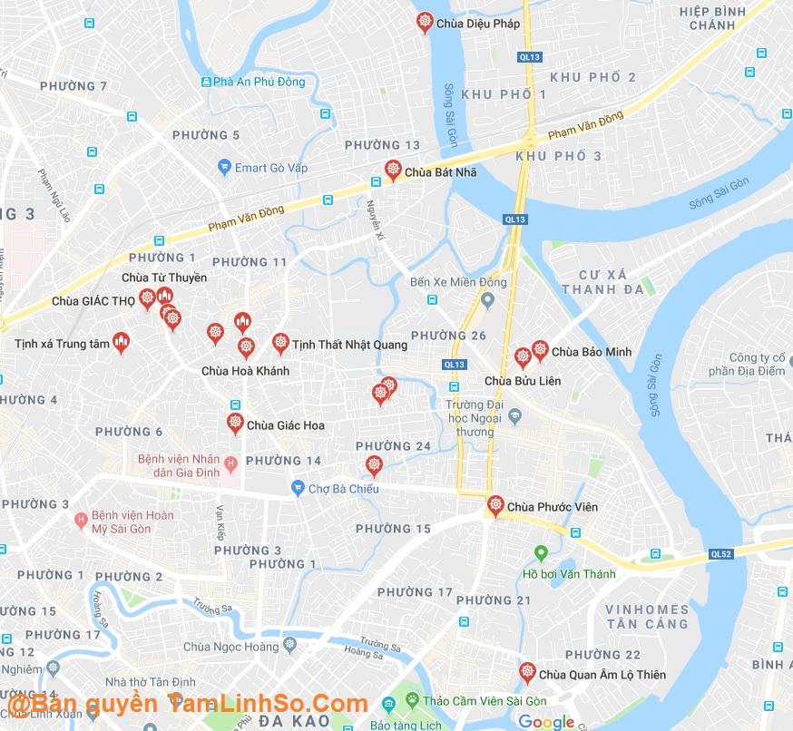 Chùa ở Bình Thạnh có rất nhiều, hơn 50 ngôi chùa