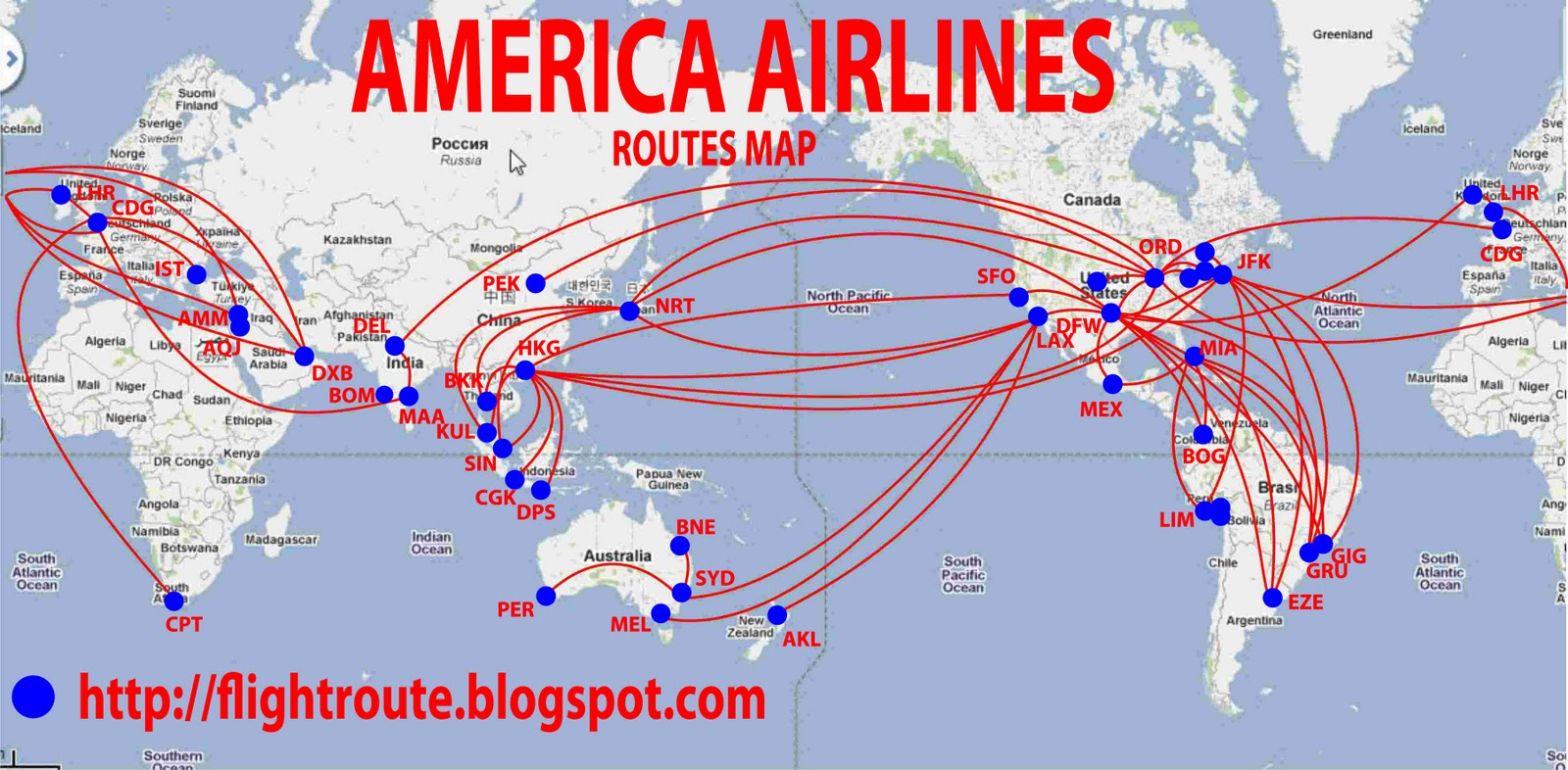 American Route Map routes map: American Airlines Routes Map American Route Map