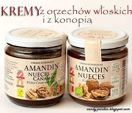 Pasta z orzechów włoskich oraz z nasionami konopi - Amandin (Vegamarket)