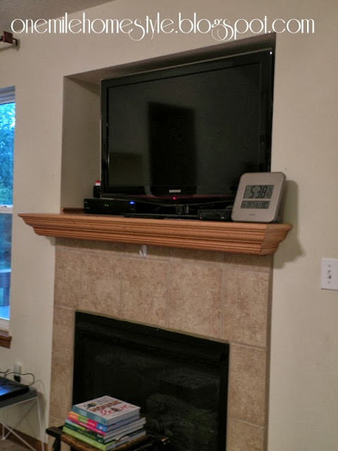 Mantle entertainment center