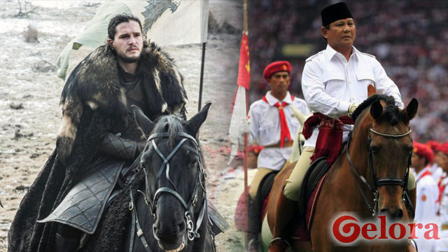 Prabowo dan Sosok Jon Snow di Serial 'Game of Thrones'