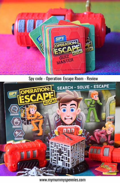 Spy Code Operation: Escape Room - Kid's board game toy review