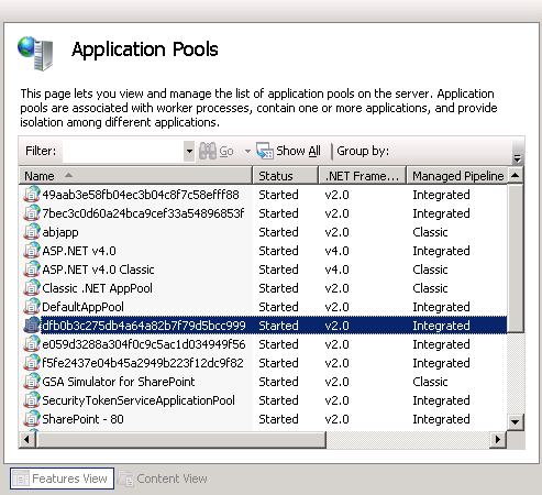 list IIS App Pools Service Accounts