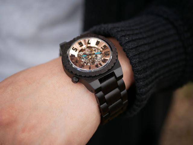 Jord Dover Wood Watch in Ebony and Copper