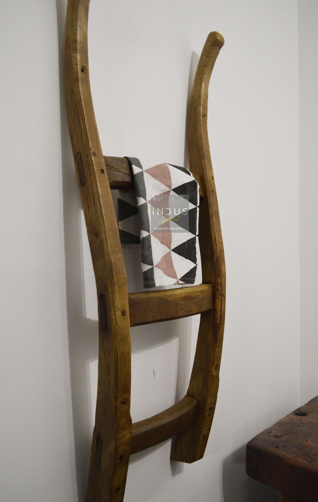 porte serviette upcycled. Black Bedroom Furniture Sets. Home Design Ideas