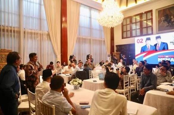 Di Hadapan Media Asing, Prabowo: Rakyat Tidak Terima Hasil Pemilu Curang