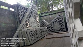 pengiriman panel GRC krawangan masjid Ar Roudhoh