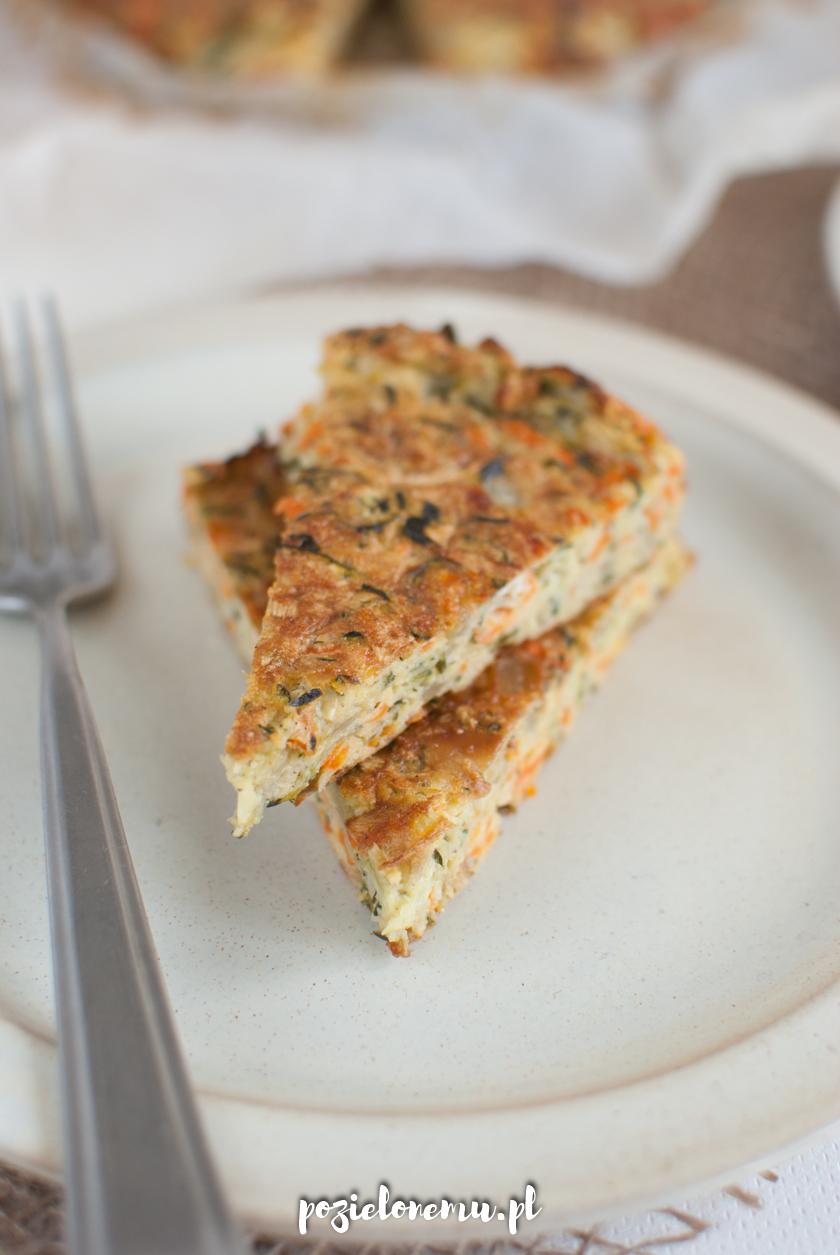Pieczony placek warzywny