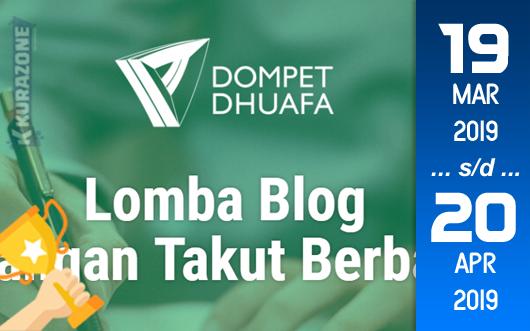 Kompetisi Blog - Dompet Dhuafa Berhadiah Uang Tunai dan Produk Pemberdayaan (20 April 2019)