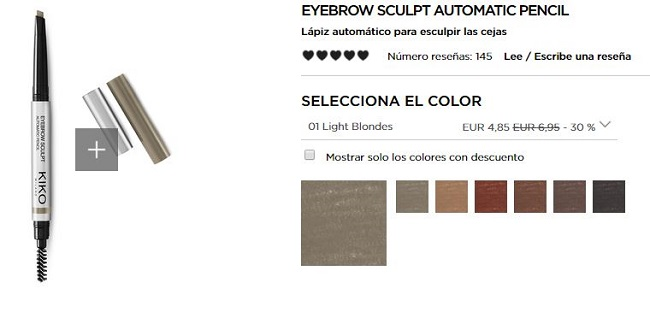 Eyebrow Sculpt Automatic Pencil - productos más vendidos de Kiko