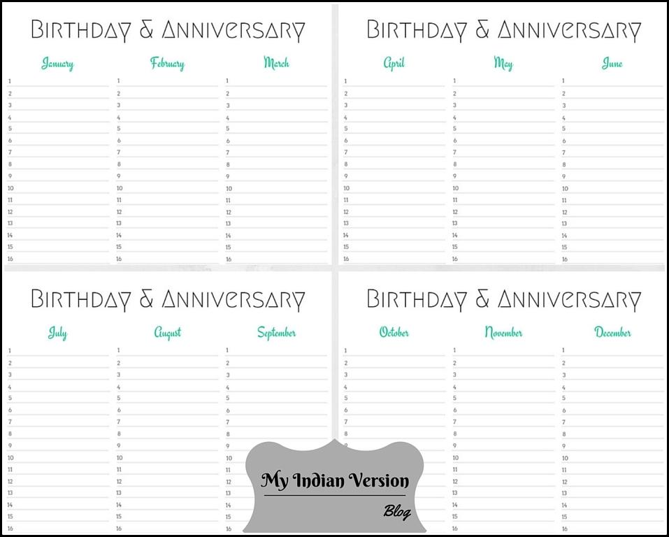 undated calendar template - Alannoscrapleftbehind - birthday calendar template