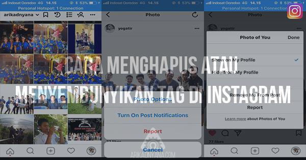 Cara Menghapus atau Menyembunyikan Tag Foto di Instagram