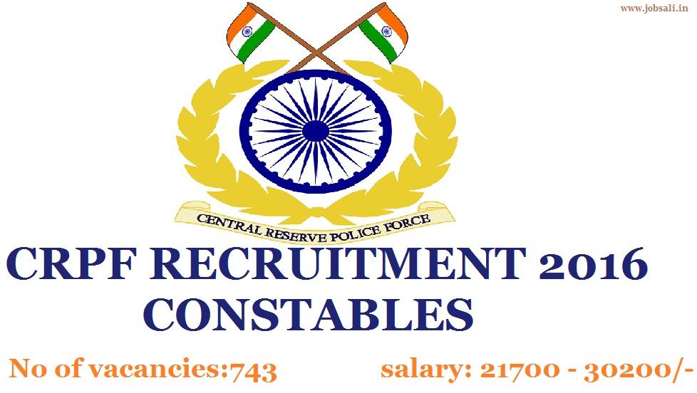Army Jobs, Government jobs, CRPF exam syllabus