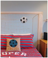 Football bedding set - Girls soccer bedroom ideas