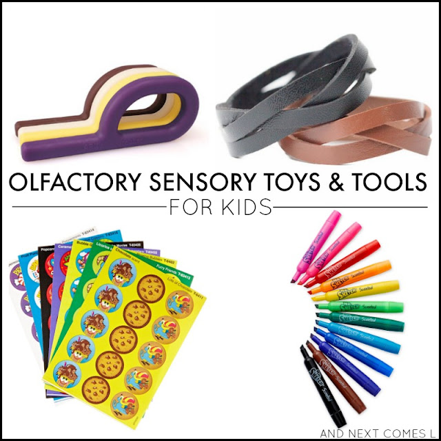 Olfactory sensory toys & tools for kids - great ideas for kids with autism and/or sensory processing issues from And Next Comes L