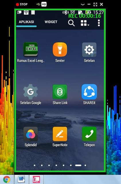 Cara Mudah Rekam Layar Android Asus Menggunakan Pc-link