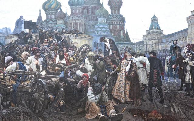 Moscou Galerie Tétriakov Vassili Sourikov Le matin de l'exécution des Streltsy (1881)